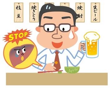 肝機能障害の原因は飲酒